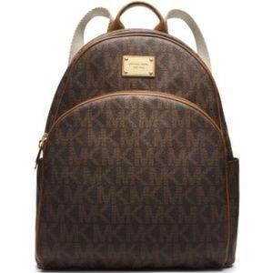 💖Michael Kors💖Large Brown Jet Set Backpack